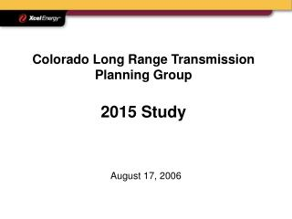 Colorado Long Range Transmission Planning Group 2015 Study