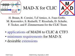 MAD-X for CLIC