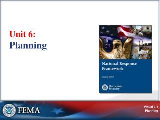 Unit 6:  Planning