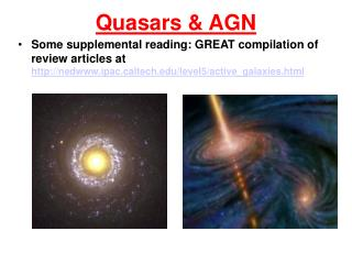 Quasars & AGN