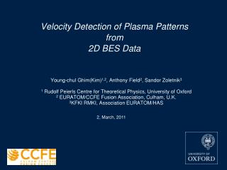 Velocity Detection of Plasma Patterns from 2D BES Data