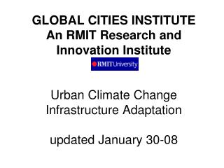Global Climate Change Adaptation Program