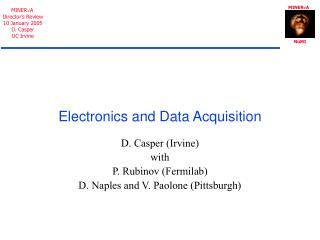 Electronics and Data Acquisition