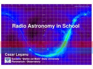 Radio Astronomy in School
