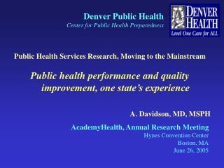Denver Public Health Center for Public Health Preparedness