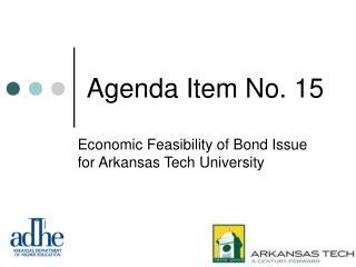Agenda Item No. 15