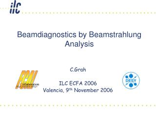 Beamdiagnostics by Beamstrahlung  Analysis