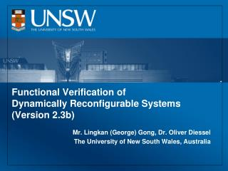Functional Verification of Dynamically Reconfigurable Systems (Version 2.3b)