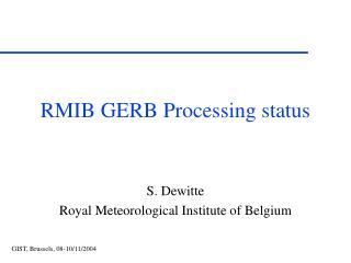 RMIB GERB Processing status