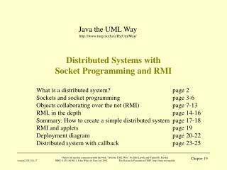 Distributed Systems with  Socket Programming and RMI