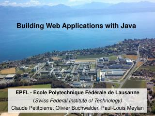 Building Web Applications with Java