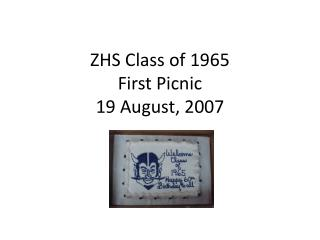 ZHS Class of 1965 First Picnic 19 August, 2007