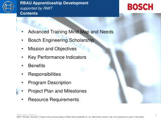 RBAU Apprenticeship Development supported by RMIT Contents