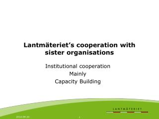 Lantmäteriet's cooperation with sister organisations