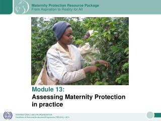 Module 13: Assessing Maternity Protection in practice