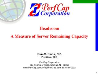 Headroom A Measure of Server Remaining Capacity