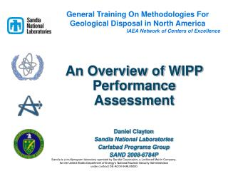 An Overview of WIPP Performance Assessment