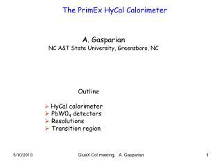 The PrimEx HyCal Calorimeter
