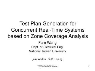 Test Plan Generation for Concurrent Real-Time Systems based on Zone Coverage Analysis