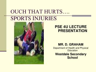 OUCH THAT HURTS…. SPORTS INJURIES