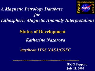 A Magnetic Petrology Database                             for