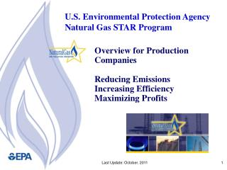 Overview for Production Companies Reducing Emissions  Increasing Efficiency Maximizing Profits