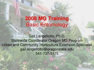 Master Gardener Information (Statewide Program)