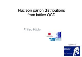 Nucleon parton distributions from lattice QCD