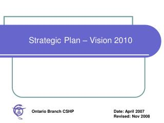 Strategic Plan – Vision 2010