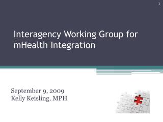 Interagency Working Group for mHealth Integration