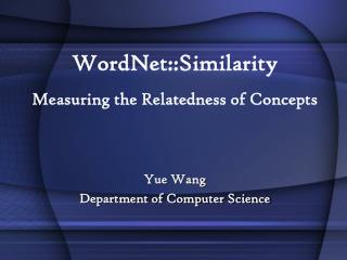 WordNet::Similarity