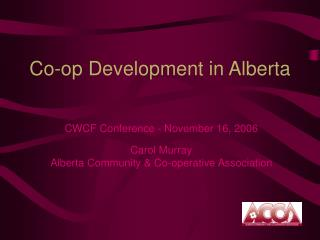 Co-op Development in Alberta