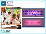 CESEW Census 2010 England