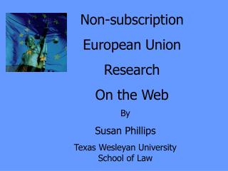Non-subscription European Union Research  On the Web