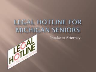 Legal Hotline for Michigan Seniors
