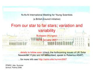 N+N+N International Meeting for Young Scientists  (a British Council initiative)