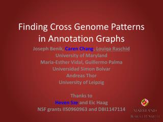 Finding Cross Genome Patterns in Annotation Graphs