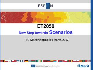 ET2050 New Step towards  Scenarios