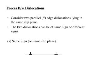 Forces B/w Dislocations