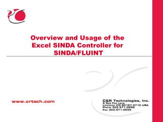 Overview and Usage of the Excel SINDA Controller for   SINDA/FLUINT