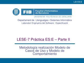 LESE-7 Práctica ES:E – Parte II