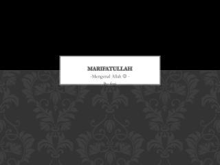 MARIFATULLAH