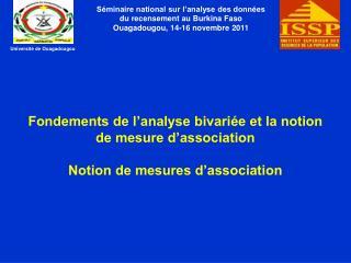 Séminaire national sur l'analyse des données du recensement au Burkina Faso