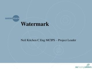 Watermark Neil Kitchen C.Eng MCIPS – Project Leader