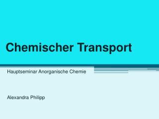 Chemischer Transport