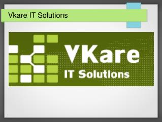 VKare IT Provides Web Solutions in India