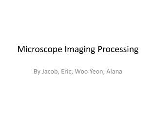 Microscope Imaging Processing