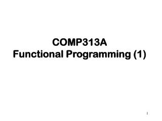 COMP313A Functional Programming (1)