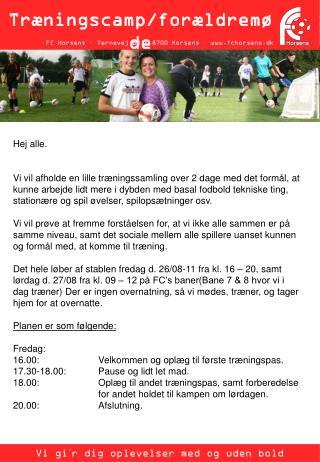 FC Horsens – Ternevej 83 – 8700 Horsens – fchorsens.dk