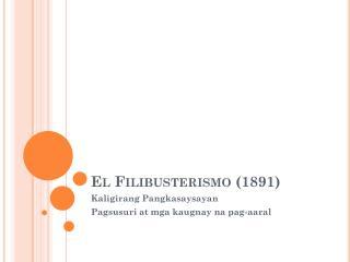 El Filibusterismo (1891)